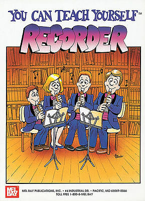 You Can Teach Yourself Recorder New Mel Bay Book + Cd