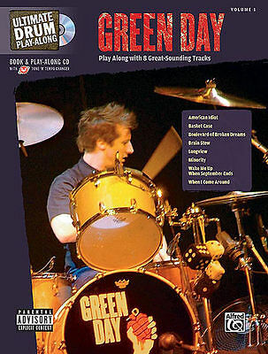 Green Day Drum Play Along Song Book + Cd Set *new*