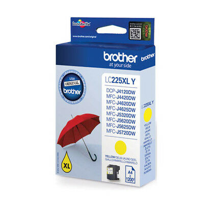 Brother LC-225XLY High Capacity Original Yellow Ink Cartridge