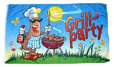 Flagge / Fahne Grill Party Grillfahne NEU 90 x 150 cm