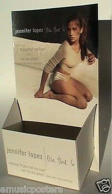 """Jennifer Lopez """"on The 6"""" U.s. Promo Stand-Up Counter Display For Compact Discs"""