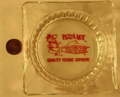 1960-70s Era Pizza Hut Old Italian Chef glass ashtray-Quality Reigns Supreme!