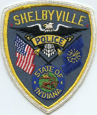 old vintage SHELBYVILLE INDIANA IN POLICE PATCH