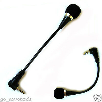 Mini 3.5mm Jack Flexible Microphone Mic For PC Laptop Notebook Skype Yahoo New