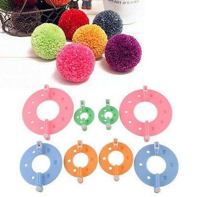 8pcs Essential Pompom Maker Fluff Ball Weaver Needle Knitting Craft Tool 4 Sizes
