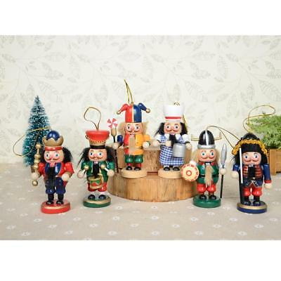 """Vintage Christmas Nutcracker 6pcs Wooden Statue Holiday Collectible Gift 4"""""""