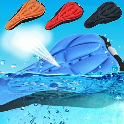 3D Silicone Gel Thick Soft Bike Bicycle Cycling Saddle Seat Cover Cushion Pad