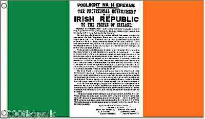 Ireland Easter Rising Proclamation of the Republic 1916 to 2016 3'x2' Flag