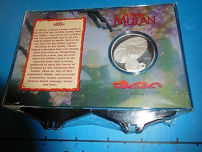 Disney Mulan 36Th Animated Feature 1998 Vintage 999 Silver Coin Sealed Only 500