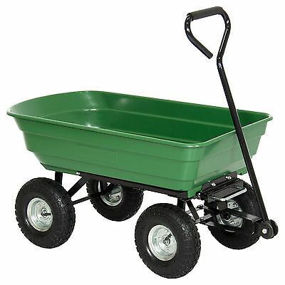 BCP Garden Dump Cart Dumper Wagon Carrier Wheel Barrow 650lb Capacity