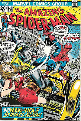 the Amazing Spider-Man Comic Book #125, Marvel Comics 1973 NEAR MINT