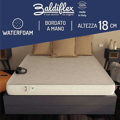 Materasso Real Best 18 Cm Poliuretano Waterfoam Ortopedico Antiacaro Anallergico