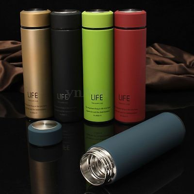 500ml Mug Bouteille Tasse Thermos Vide Isotherme Chaud Froid Portable Pr Voyage