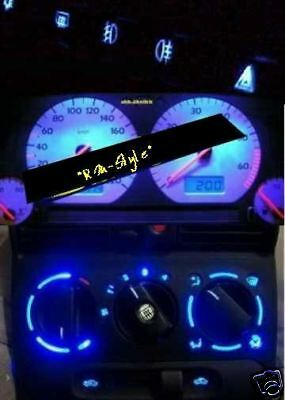 Blue Led Speedometer+Interior for VW Polo 3 86C 2f