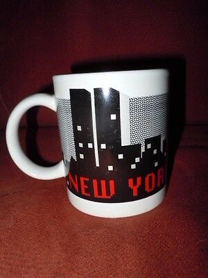 New York Souvenier Ceramic Mug,1986, World Trade Center In Nyc Skyline, Mint