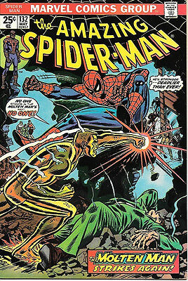 the Amazing Spider-Man Comic Book #132, Marvel Comics 1974 NEAR MINT