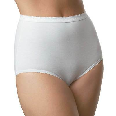 Ladies Size 14-16 Stretchy Full Briefs Knickers Panties Cotton Rich White