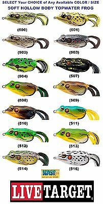 Koppers Live Target Frog Topwater Hollow Body Soft Any FGH 45T 55T 65T Lure