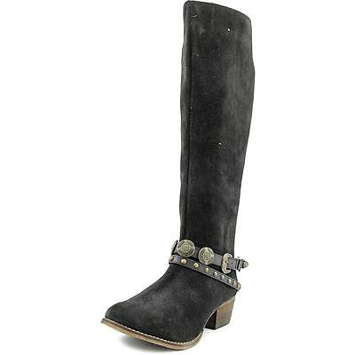 Coconuts By Matisse Wichita Women  Pointed Toe Suede Black Knee High Boot