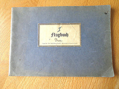 WW2 German  TOP!!! Luftwaffe FLUGBUCH BOOK !!! He 42 , He 60 , W 34  TOP!!!!