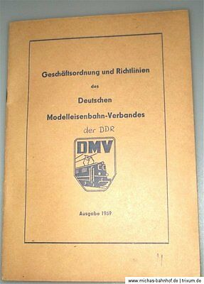 German Model Railway VERBAND DER GDR Commercial Regulations Guidelines 1969 Å