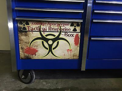 Snap on toolbox Drawer Decals Zombie Apocalypse Pinup Girl or Your own Picture
