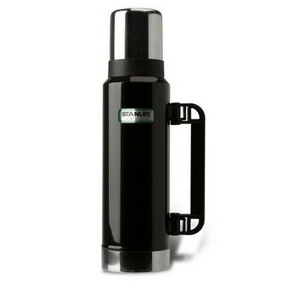 Stanley Classic 1.3L Ultra Vacuum Insulated Thermos Flask BLACK Hot Cold 28 hrs
