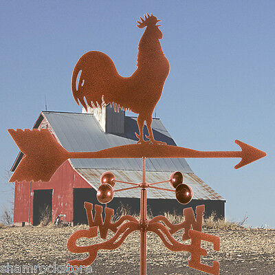 Traditional Barn Rooster Weathervane with Roof Mount - Chicken - Weather Vane
