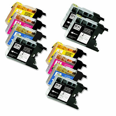 10 PK Printer Combo Ink for Brother LC75 All-in-One MFC J280W J425W J430W J625DW