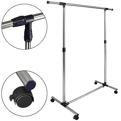 Adjustable Mobile Hanging Rail Clothes Garment Rack JOHANN 5 ft by BB Sport