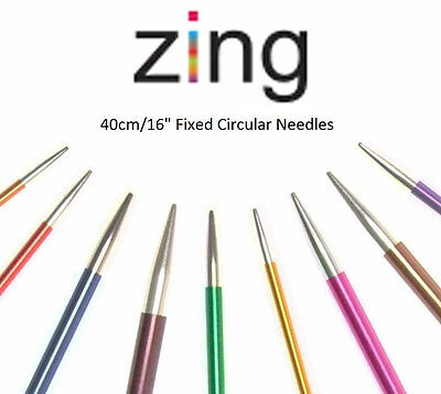KnitPro Zing Metal Straight Knitting Needles - 25cm and 30cm - 2.75mm-6.0mm