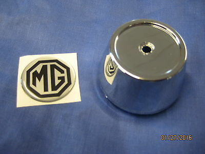 Mg  Mgb Roadster Or Gt Alloy Wheel Centre Cap Chrome  Plastic Including Badge