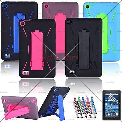 """Fire 7"""" Case, Heavy Duty Hybrid Case with Kickstand For Amazon Fire 7"""" 2015/2017"""