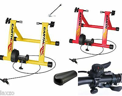 Turbo Trainer Cycle Bicycle Indoor Cycling Exercise Bike Training + Block Riser