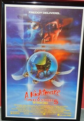 A Nightmare on Elm Street 5 The Dream Child Movie Poster. 27x41 Rolled SS Mint