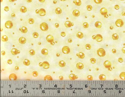 Quilting Treasures ~ YELLOW ORANGE Bubbles Calico ~ 100% Cotton Quilt Fabric BTY