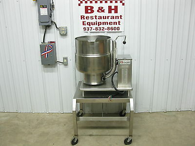 Groen TDB/7-40 Steam Jacket Tilt Electric Soup Kettle 10 Gallon 40 Qt w/ Stand