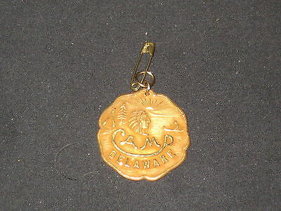 Camp Delaware Medallion for Watch or Keychain, gold filled  eb03