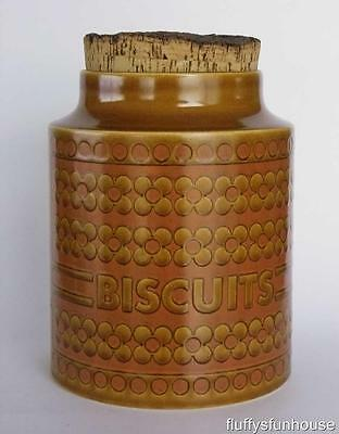 HORNSEA ENGLAND SAFFRON BISCUIT CANISTER 'B' ca1972 NEAR MINT CONDITION