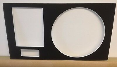 "7"" Record Mounts - Pack of 10 8"" x 14"" with picture and plaque M008"