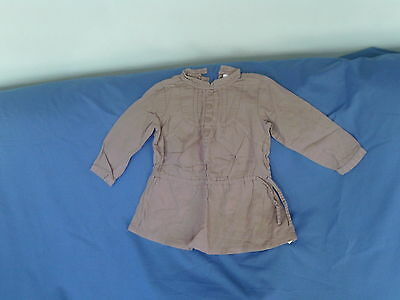 Baby Girls 12-18 Months - Taupe Long Sleeve Tunic Top - Vertbaudet