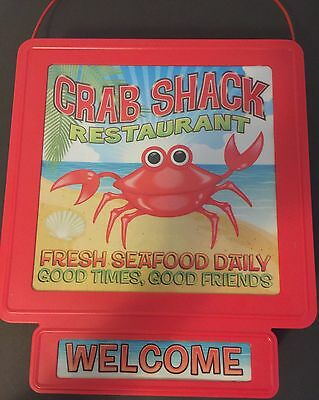 Sign Crab Shack Cafe Decor Seafood Restaurant Lights Signs Welcome Red