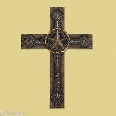 cowboy country western rustic rodeo Wall art CROSS Christian Religious crucifix