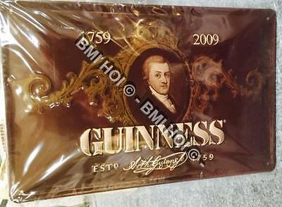 "Arthur Guinness Portrait on Metal sign 12"" x 8"" inches  Chocolate Brown colour"
