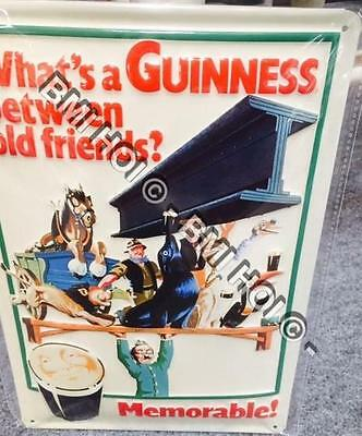 """What's a Guinness Between Friends on Metal sign 12"""" x 8"""" inches"""