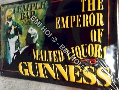 "Guinness The Emperor of Malted Liquor on Metal sign - 12"" x 8"" inches"
