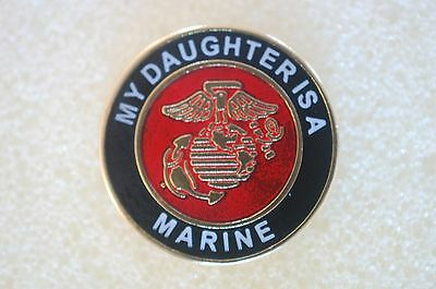US USA USMC My Daughter Is A Marine Military Hat Lapel Pin