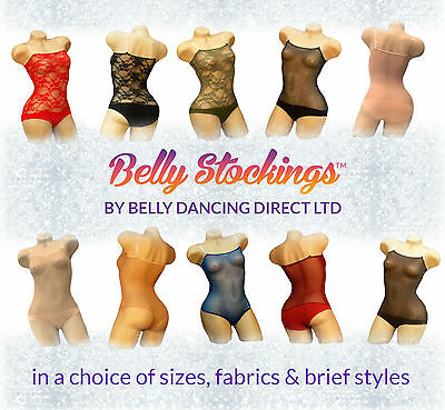 New BELLY STOCKING™ Over Bust with Straps Power Mesh Leotard Net Body for Dance