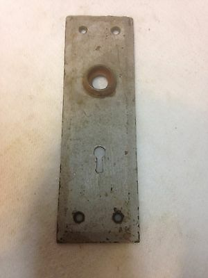 Antique Vintage Primitive Shabby Door Knob Lock Key Hole Back Plate Part 3