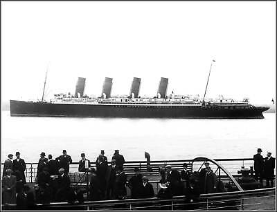 Photo: Marvelous New View: The RMS Mauretania In 1908